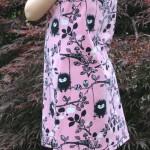 Jerseykleid seitlich