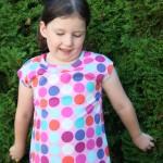 Shirt aus Maxi Dots rosa