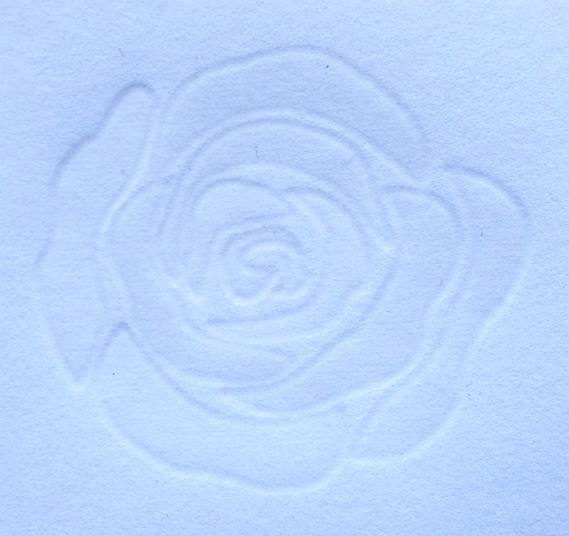 gepraegte rose