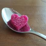 Herzzucker auf Loeffel