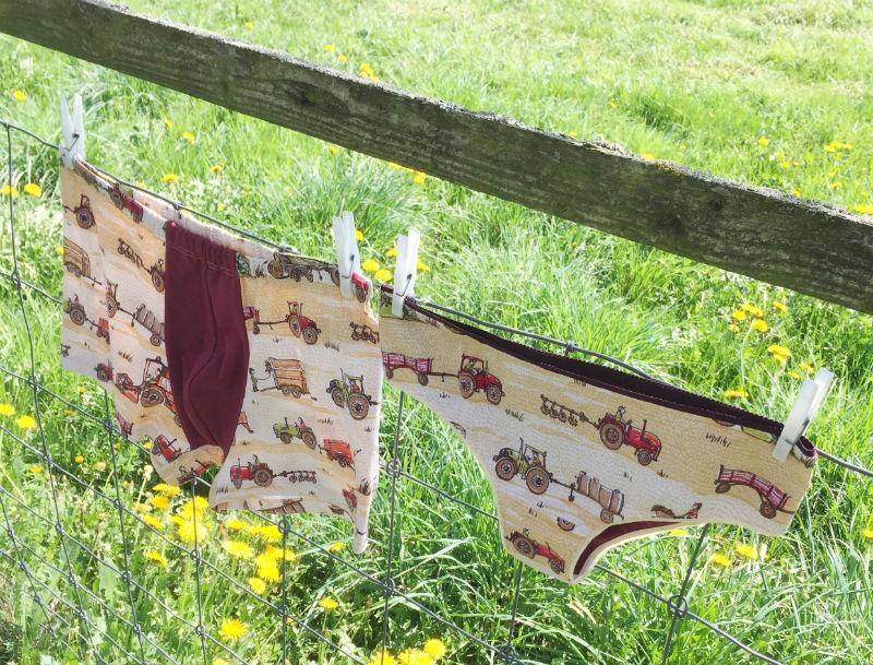 Unterhosen am Zaun