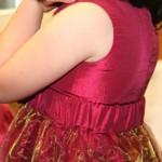 Ausschnitt Rosenkleid seitlich hinten