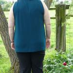 Knotenshirt von hinten